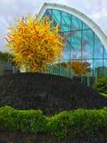 Chihuly庭院和玻璃博物馆西雅图 库存图片