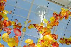 Chihuly庭院和玻璃博物馆,西雅图,华盛顿州,美国的玻璃房子 免版税图库摄影