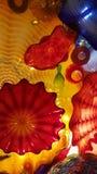 Chihuly exponeringsglas Arkivbild