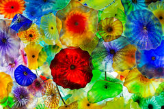 Chihuly Flowers. An arrangement of glassblown flowers by Artist Dale Chihuly Stock Images
