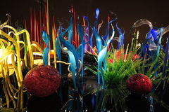 Chihuly garden. Glass indoor garden in Chihuly Garden and Glass exhibition, Seattle, Washington Royalty Free Stock Photography