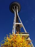 Chihuly Garden and Glass under the Space Needle Royalty Free Stock Photo