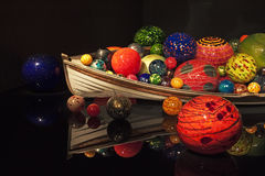 Chihuly glass with boat Royalty Free Stock Photography