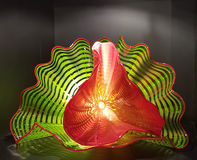 Chihuly Glass Sculpture in Green and Red Stock Images