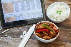 Chiicken com arroz fotos de stock