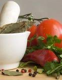 ChiIli, Tomaten u. Gewürze III Stockbilder