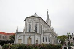 Chijmes historisk arkitektur Singapore arkivbilder
