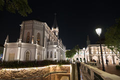 Chijmes at night, Singapore stock images