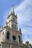 Chijmes in Singapore. A famous British colonial style cathedral church Royalty Free Stock Photos