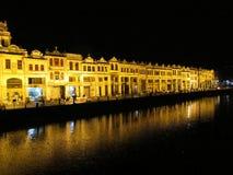 Chikan-Dorf Riverbank Lizenzfreies Stockfoto