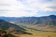 Chike-Taman in the Altai Mountains. View Chike-Taman in the Altai Mountains Stock Photo