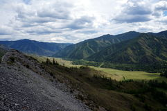 Chike Taman Mountain Pass View. View from the top of the Chike-Taman Mountain Pass in the Mountain Altay Stock Images