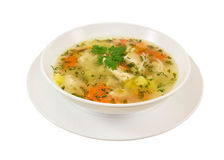 Chiken汤。 库存图片