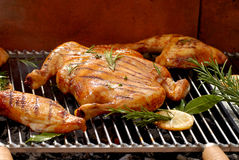 chiken зажарено в духовке стоковые фотографии rf