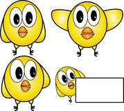 Chiken. Funny little chicks or simley logo Royalty Free Stock Images