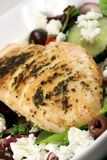 Chiken breast and salad Stock Images
