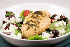 Chiken breast and salad Royalty Free Stock Images