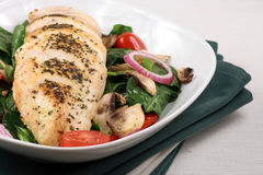 Chiken breast and salad Royalty Free Stock Image