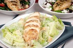 Chiken Brust und Salat Lizenzfreies Stockfoto