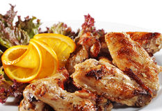 chiken grillów skrzydła Fotografia Royalty Free