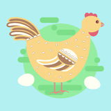 Chiken hen bird Stock Images
