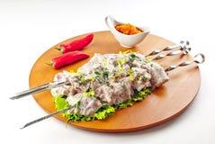 chiken kebab shish 免版税库存图片