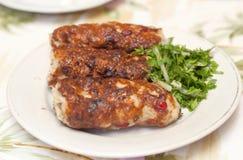 Chiken lulya-kebab Royalty Free Stock Image