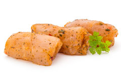Chiken meat rolls isolated on the white background. Royalty Free Stock Photos