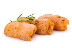 Chiken meat rolls isolated on the white background. Royalty Free Stock Photo