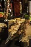 Chiken och grisköttkött arkivbild