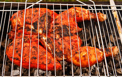 Chiken On Grill Royalty Free Stock Photography