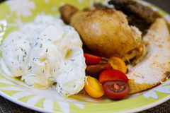 Chiken plate Royalty Free Stock Photo