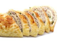 Chiken roll close up Stock Images