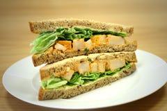 Chiken smörgås Royaltyfria Bilder