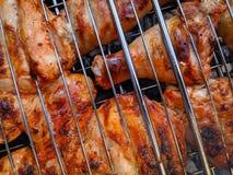 Chiken sur le gril photos stock
