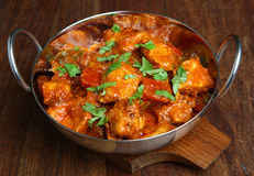 Chiken Tikka Jalfrezi Curry. Indian chicken tikka jalfrezi curry Royalty Free Stock Photos