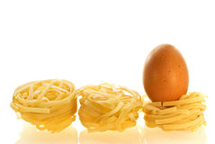 Chikken egg as an ingredient of pasta Royalty Free Stock Images