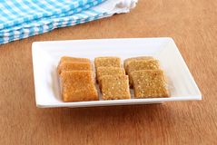 Chikki Traditional and Popular Indian Sweet Dish stock photography