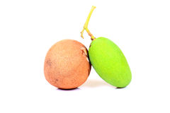 Chikoo y mango imagenes de archivo
