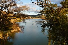 Chikugo River / Background. Although the Chikugo River is a famous river as the 3 rampant river, it is also important as a water for beverages and agriculture Stock Images