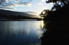 Chikugo River / Background. Although the Chikugo River is a famous river as the 3 rampant river, it is also important as a water for beverages and agriculture Royalty Free Stock Photography