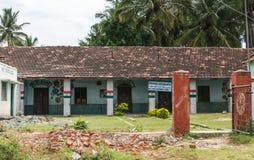 Chikunda村庄,卡纳塔克邦,印度回教小学  免版税库存图片