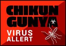 Chikungunya virus allert vector outline Stock Image