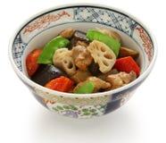 Chikuzenni, japanese nimono cuisine Royalty Free Stock Images