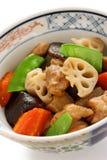 Chikuzenni, japanese nimono cuisine Royalty Free Stock Photo