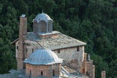 Chilandarou monastery. Roofs of Chilandarou monastery at Agion Oros Greece stock image
