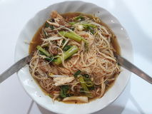 Chilcken noodle. Have a chiclken , vegetable Stock Images