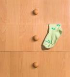 Childâs Socke und Fächer Lizenzfreies Stockfoto