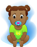 Child. The child with a baby's dummy Royalty Free Stock Photography