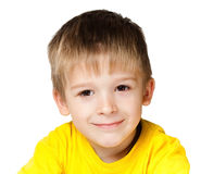 Child. In a yellow shirt Stock Photos